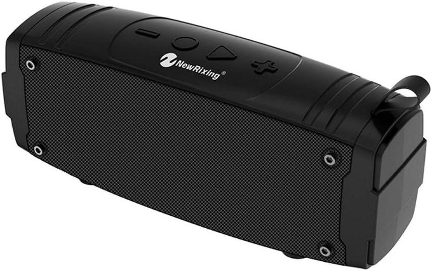 Alta calidad Nuevo altavoz Bluetooth Wireless Mini portátil de la columna for el teléfono del ordenador al aire libre Altavoz estéreo de música envolvente altavoz de graves durable ( Color : Black )
