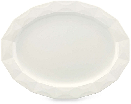 kate spade new york Castle Peak™ 16-Inch Oval Platter in Cream - BedBathandBeyond.com