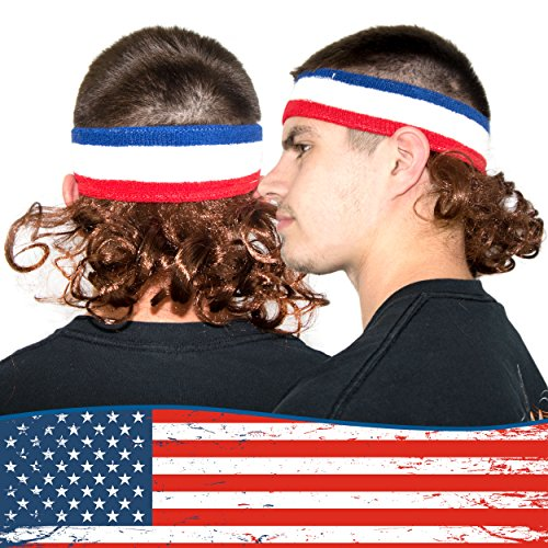Freedom Mullets Headband Hair Wig - The Classic Mullet -