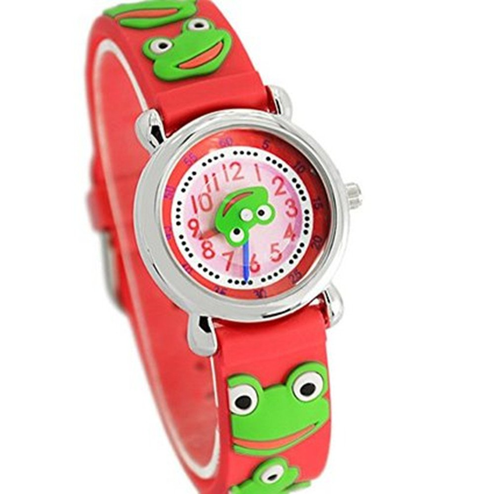 Amazon.com: Fashion Brand Quartz Wrist Watch Baby Children Girls Boys Watch Frog Design Waterproof Watches: Watches