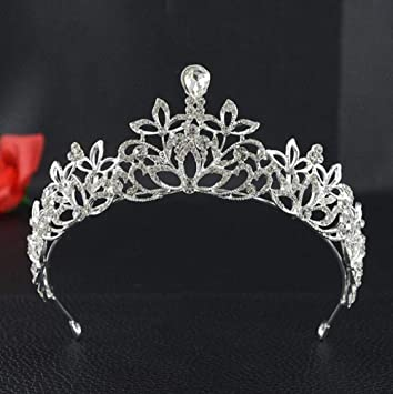 Amazon.com   Cheap Rhinestone Tiaras and Crowns Women Jewelry Wedding Hair  Accessories Pageant Quinceanera Headbands Headpieces   Beauty 3c33700fb99