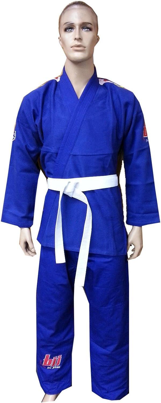 Woldorf BJJ着物Jiu Jitsu Judo Gi学生ブルー色キッズ0