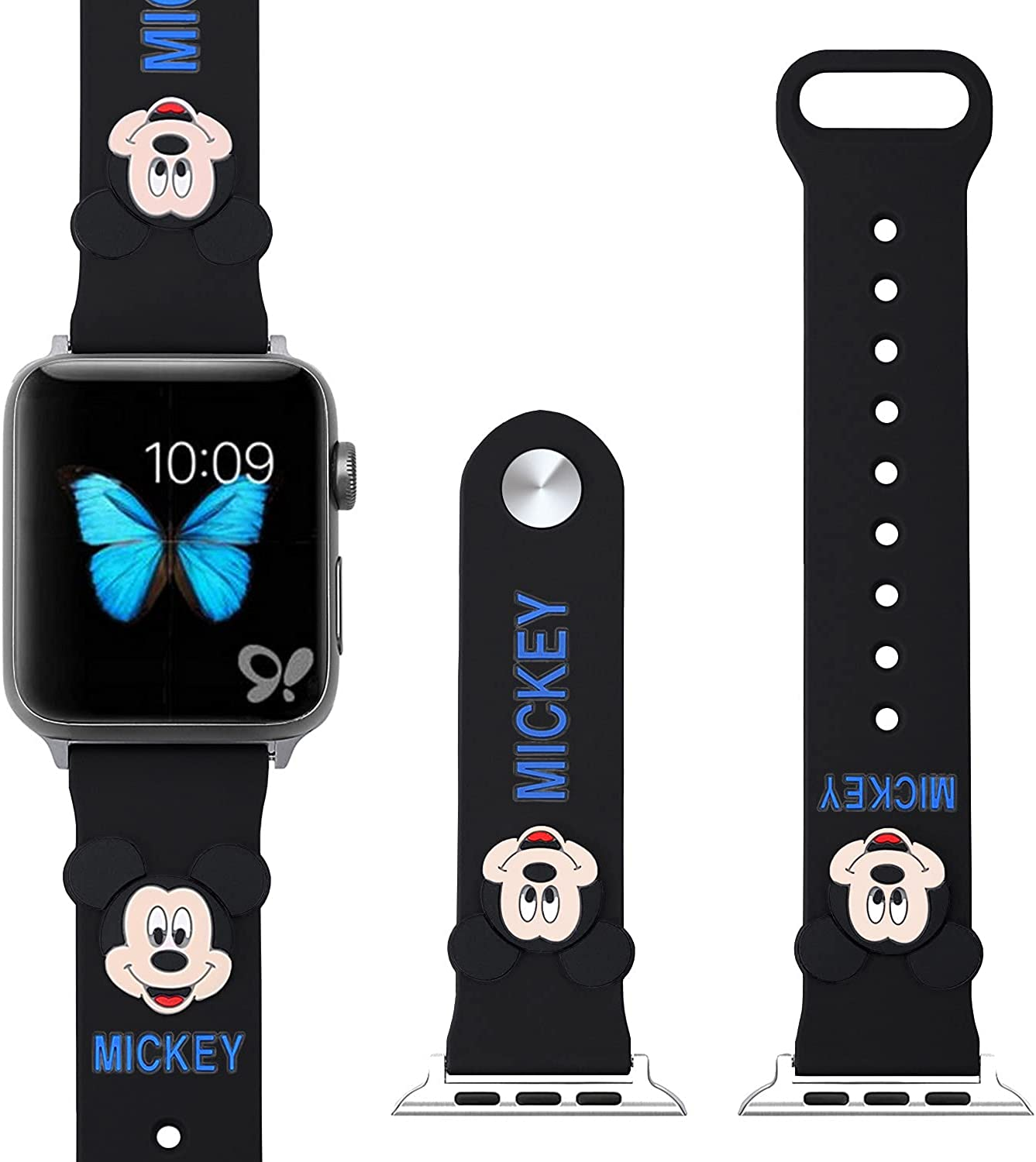 Sport Watch Band Compatible for Apple Watch Bands 38mm/40mm, 42mm/44mm.Mickey pattern smart watch strap for with Apple Watch Series 5/4/3/2/1