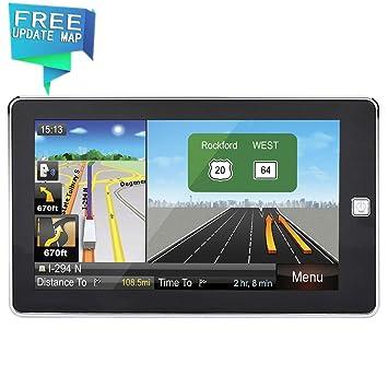 Navegación GPS para Coche HighSound 7 Pulgadas GPS actualizado 8 GB 800 x 480 LCD Pantalla