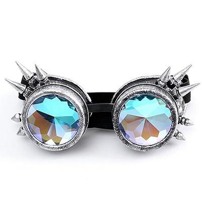 2019 Moda Mujer Gafas de Sol, WINWINTOM Verano Gafas de Playa, Nuevo Mujer Dama Caleidoscopio Vistoso Delirio Festival Fiesta Gafas de sol Lente Difractada (Color_A): Ropa y accesorios
