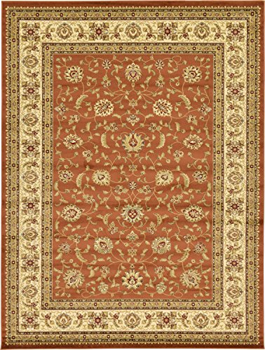 (Unique Loom Voyage Collection Traditional Oriental Classic Brick Red Area Rug (9' x 12'))