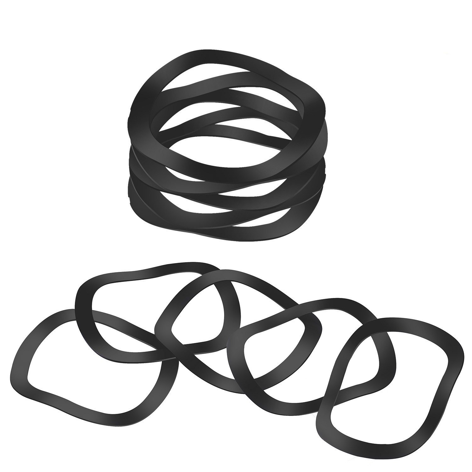 Wave Washers Compression Type Wave Washer Carbon Spring Steel, 3 Waves, Inch, 0.839'' ID, 1.043'' OD, 0.0118'' Thick, 0.118'' Compressed Height Wave Washers (Pack of 10 (M21)