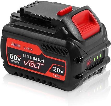 DSANKE DCB606 20V//60V MAX 7.0Ah Lithium Replacement Battery for DeWalt Flexvolt DCB606 DCB612 DCB606-2 DCB609 DCB609-2 DCB204 DCB205 DCB206 20V//60V//120V MAX Cordless Power Tools