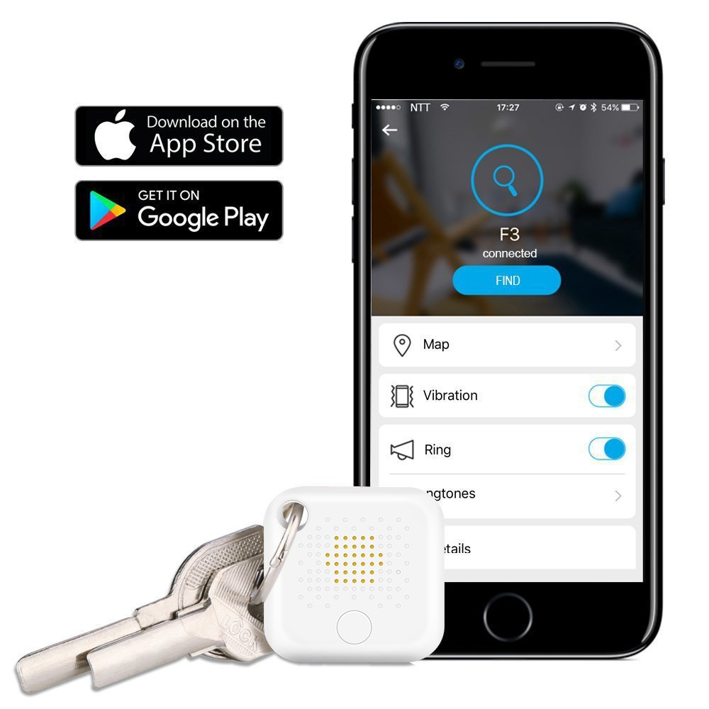 TITI Bluetooth Key Finder, Phone Finder Wallet Locator, Bluetooth Key Phone Wallet Item Tracker for Apple iOS and Android Phone Tablet