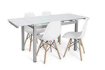 Noorsk Design Conjunto formado por Mesa de Comedor o Cocina ...