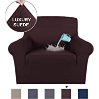 Soft High Stretch Suede Fabric Sofa Slipcover Grey Couch Covers Velvet Plush Furniture Protector Machine Washable Sofa Covers