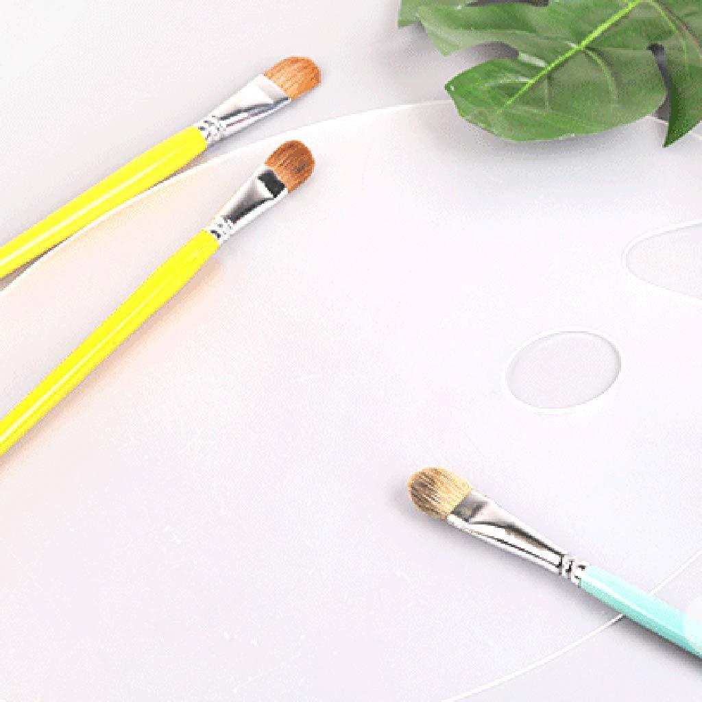 Acryl leicht zu reinigen transparent S durchsichtig transparent oval Analysisty Deluxe Kunststoff-Palette
