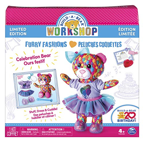 Build A Bear Workshop - Furry Fashions 20th Birthday Celebration Bear - Limited Edition (Make Your Own Teddy Bear At Home)