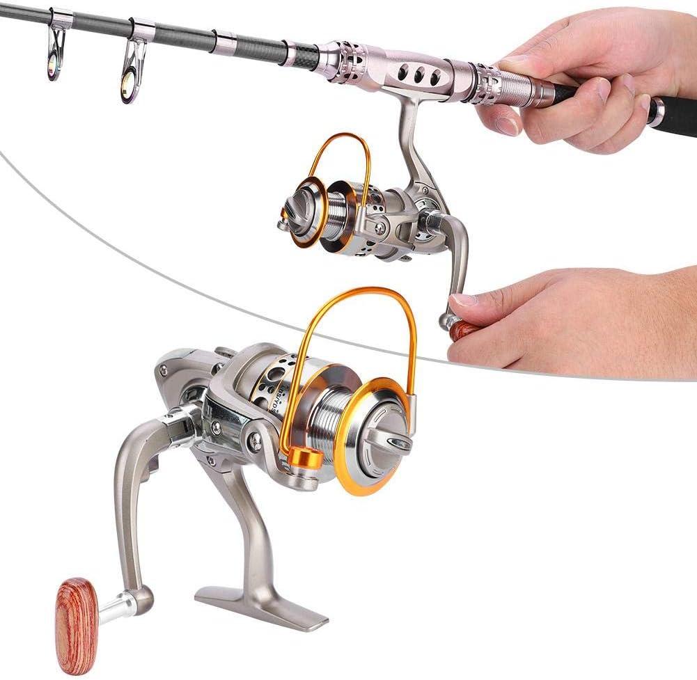 LC 1000-7000 12BB 5.5:1 Fishing Reel Foldable Arm Rocker Rear Drag Spool Fish Spinning Wheels Rear Drag Fishing Reel