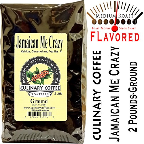 Culinary Coffee Roasters- Jamaican Me Crazy, Flavored Ground Coffee, 2-pound Bag Amazon Special-100% Satisfaction Guaranteed!