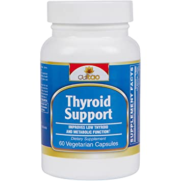 Premium Thyroid Support Supplements w/L-Tyrosine, Iodine (From Kelp), Green  Tea Leaf Extract, Guggulipid,