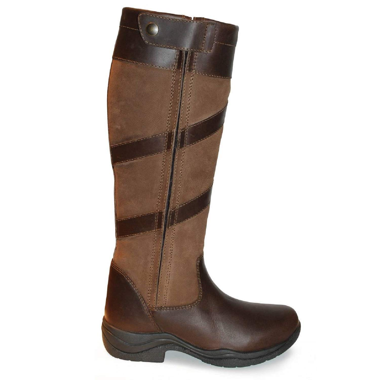 Mark Todd Adults Tall Waterproof Zip Boots (9 US (Standard)) (Brown) by Mark Todd
