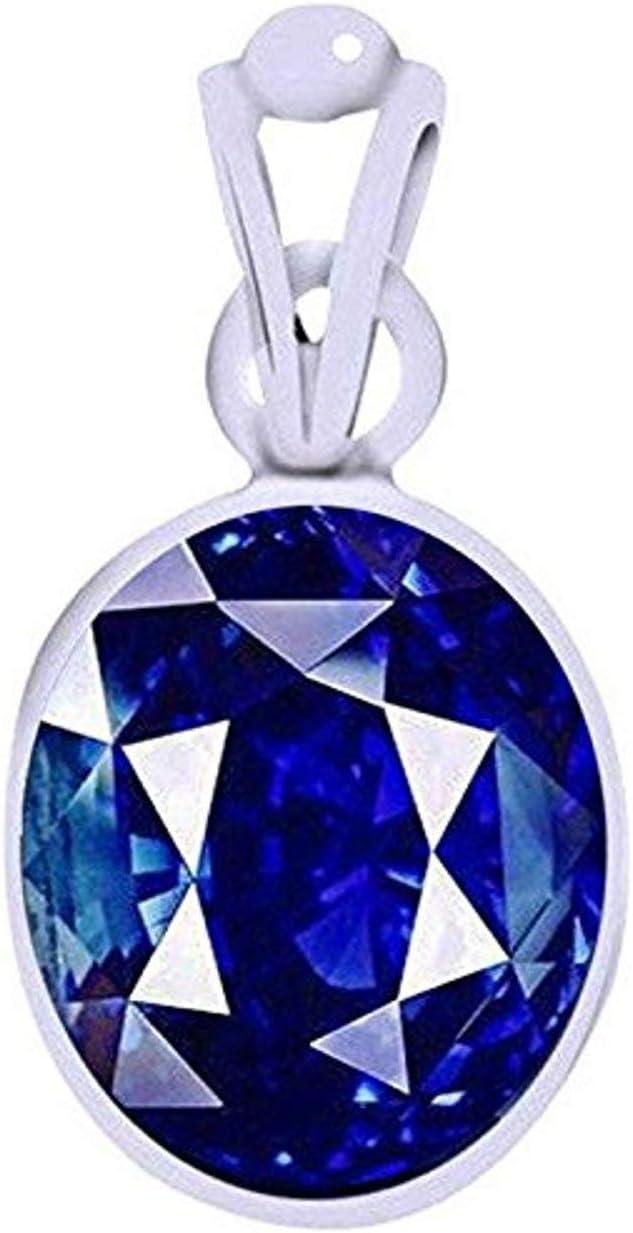 Divya shaktí 7,25–7,50quilates azul zafiro colgante/Locket (Nilam/Neelam piedra colgante de plata) 100% original AAA calidad Gemstone