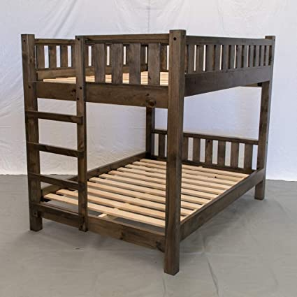 Rustic Farmhouse Bunk Bed Queen Queen Traditional Bunk Bed Wood Reclaimed Bunk Bed Modern Urban Cottage Bunk Bed