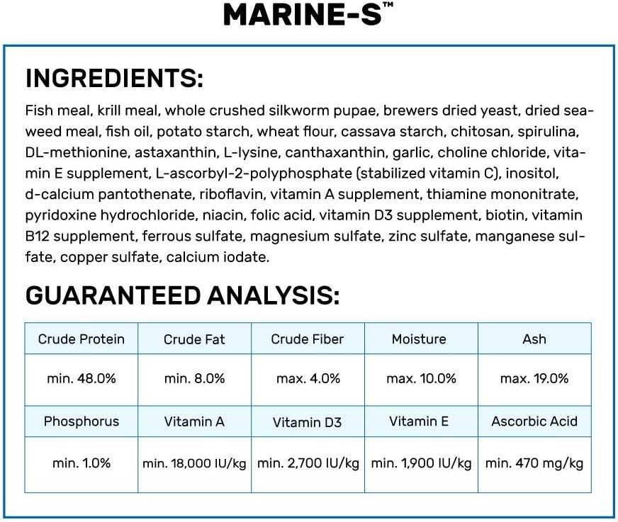 Amazon Com Hikari Marine S Pellets Fish Food For Smaller Marine Fish Pet Food Pet Supplies