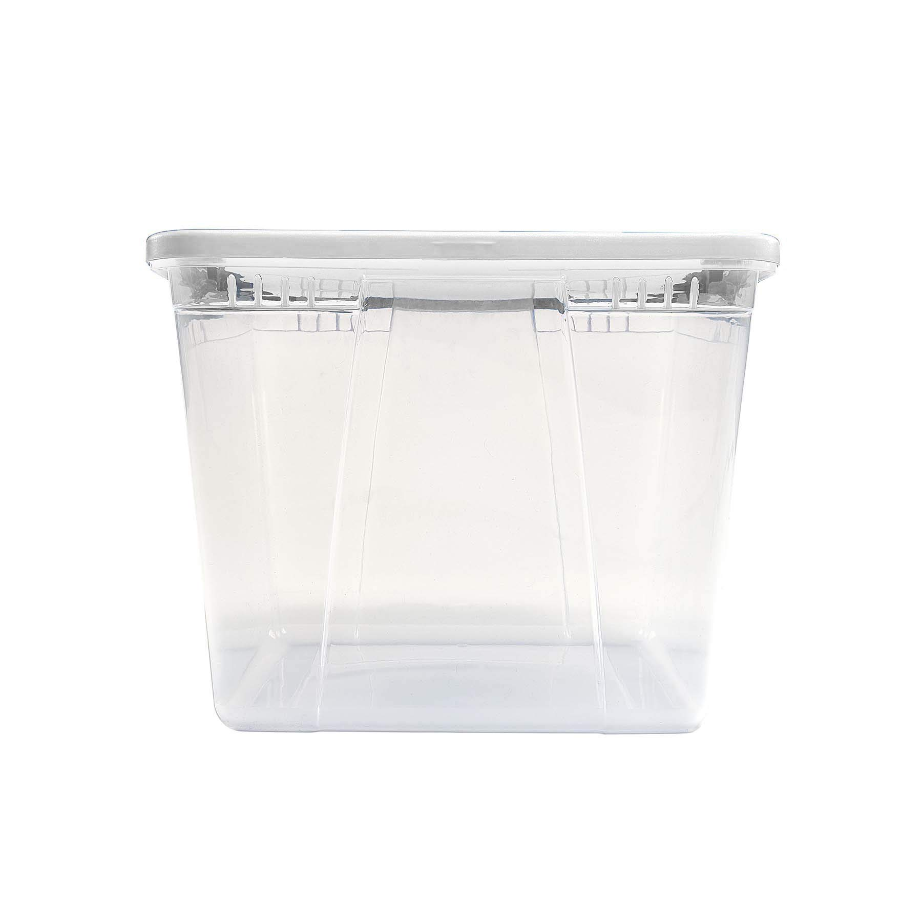 Homz 56 Quart Snaplock Container Clear Storage Bin with Lid, 4 Pack, White, 4 Sets by Homz (Image #5)