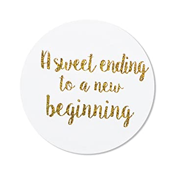 Amazon 80 2 A Sweet Ending To A New Beginning Stickers