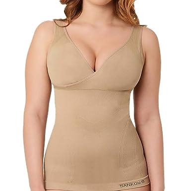 b341fc5ef8 SANKOM-Beige Slimming and Posture Vest Shaper with Bra Essentials ...