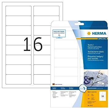 Amazon.com: Herma 4515 nombre etiquetas extraíble paquete de ...