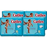 Cuties Baby Diapers, Size 3, 36-Count, Pack of 4