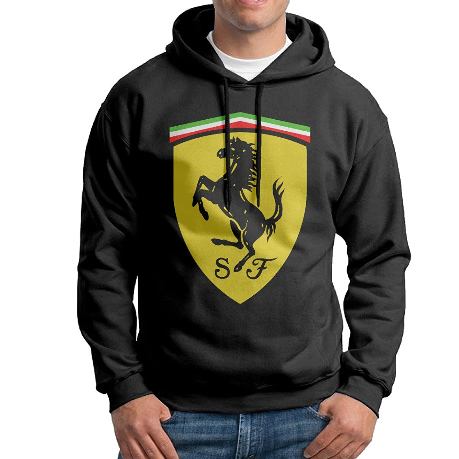 free shipping SuperFF Men's Ferrari Logo Hooded Sweatshirt