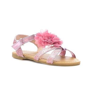 co Chatterbox Flat Girls Glitter Pink ukShoesamp; SandalAmazon Bags lKFJT1c