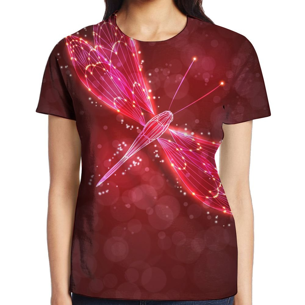 XIA WUEY Shiny Butterfly Womens Cute Graphic Tee Quick Dry T-Shirt by XIA WUEY