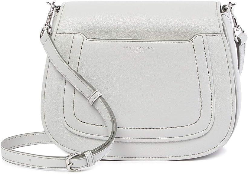 Marc Jacobs Empire City Mini Messenger Leather Crossbody Bag Light Grey