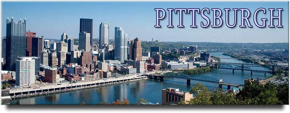 Pittsburgh panoramic fridge magnet Pennsylvania travel souvenir