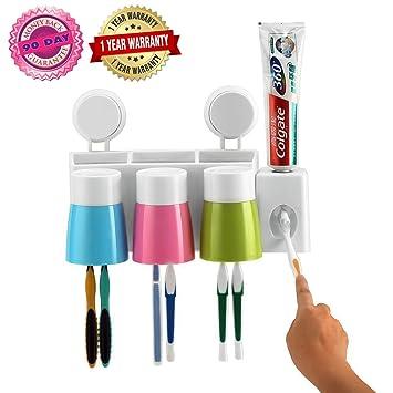 Estuche de viaje de silicona para cepillos y pasta de dientes, además de espejo y peine, plástico, Blanco, talla única: Amazon.es: Hogar