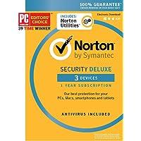 Norton Security Deluxe + Norton Utilities Bundle - 3 Devices [Key Card] - 2019 Ready
