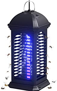 COKIT Bug Zapper Electronic Insect Killer Lamp,Powerful Mosquito Killer Fly Light Trap with Hook for Home/Office/Indoor Use