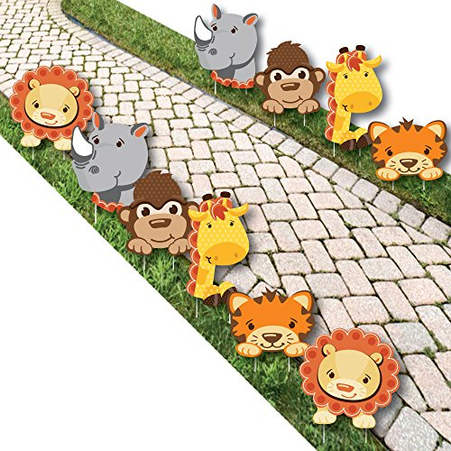 Funfari - Fun Safari Jungle Lawn Decorations - Outdoor Baby Shower or Birthday Party Yard Decorations - 10 (Kids Lawn Decoration)