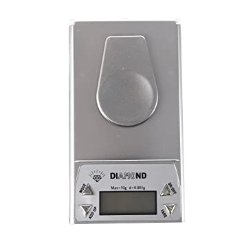 SODIAL(R) BASCULA DIGITAL BALANZA DE PRECISIoN 0,001G A 10G LCD: Amazon.es: Hogar