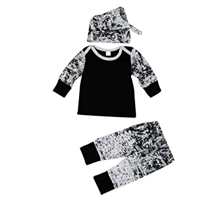 Ouneed® 0- 2 ans Garcon Retnard Tee shirt Ensemble 3pcs