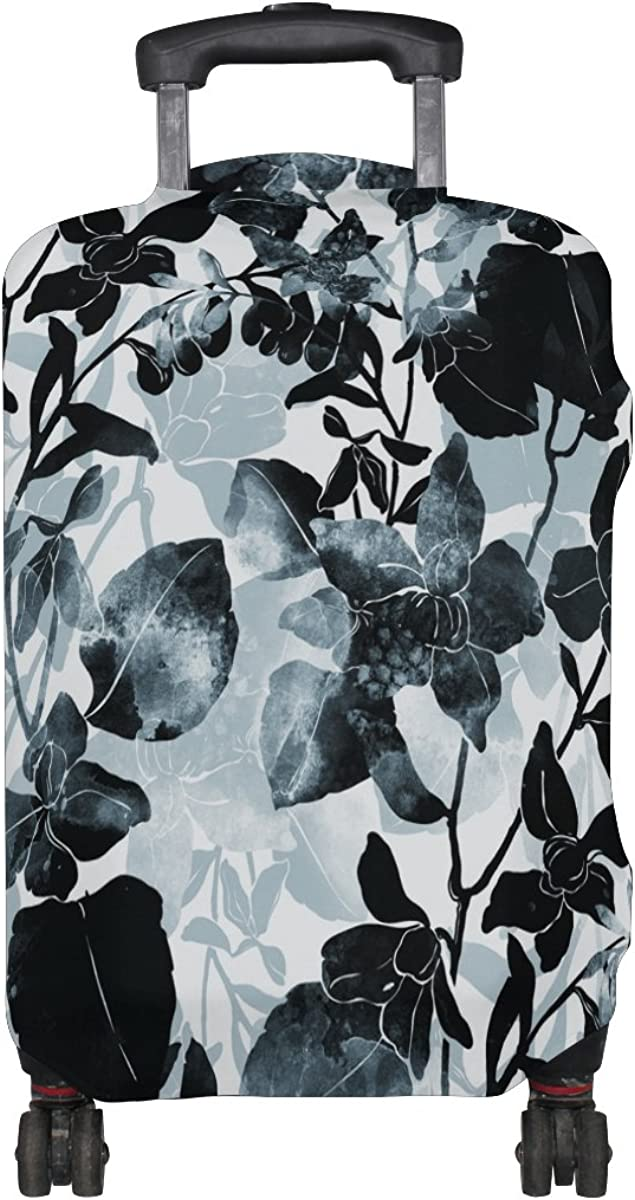 ALAZA Watercolor Floral Leaf Luggage Travel Suitcase Cover Case Protector