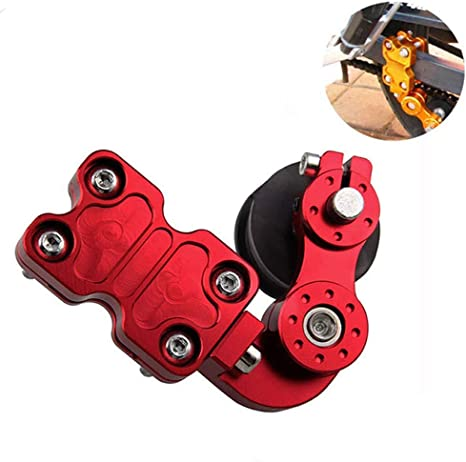 Chain Tensioner Adjuster Universal Aluminum Red Chain Automatic Regulator for Motorcycle Motocross Chopper Dirt Street Bike ATV