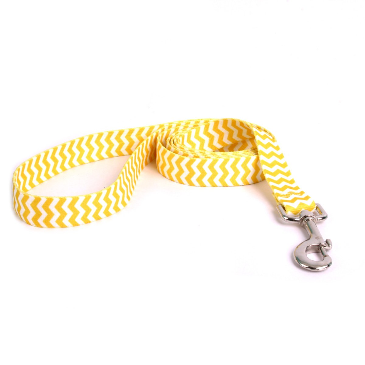 Yellow Dog Design Chevron-Lemon Dog Leash 1'' Wide and 5' (60'') Long, Large