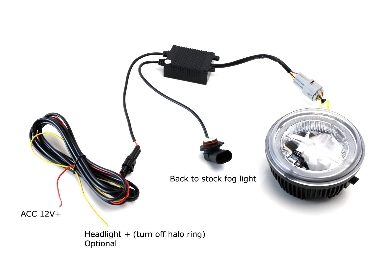 Wiring Halo Fog Lights Trusted Schematics Diagram Tacoma Light Switch Amazon Com Ijdmtoy 30w High Power Cree Xb D Led Ring Daytime