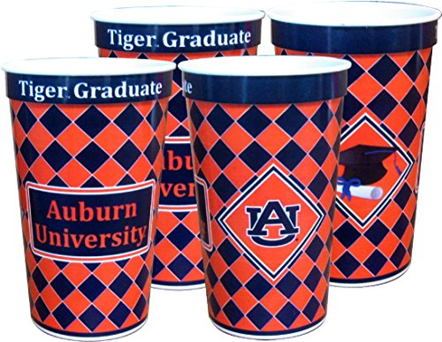 Auburn Tigers 22 oz Souvenir Graduation Cups - 4/pkg.