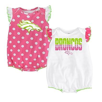 Denver Broncos 2pc Girls Creeper Set  quot Polka Fan quot  Infant Baby ... 4c971881e