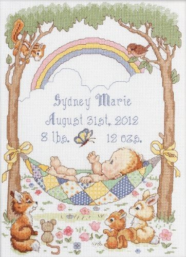 Our Little Blessing Birth Record Cross Stitch Kit
