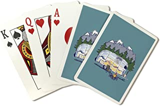 product image for Airstream - Line Drawing (Playing Card Deck - 52 Card Poker Size with Jokers)
