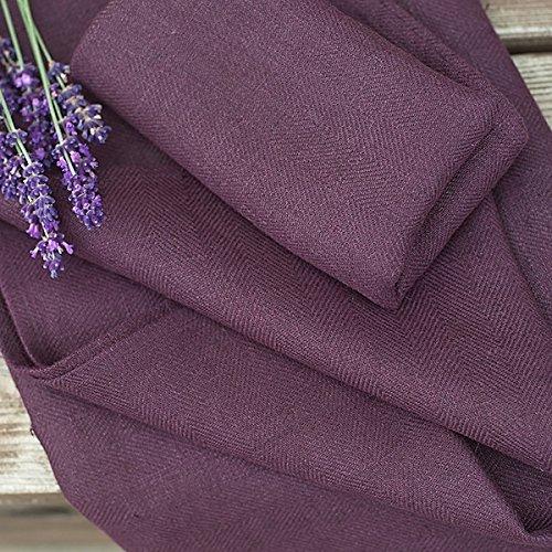LinenMe Linen Lara Bath Towels (Set of 4), 39 x 55, Aubergine by LinenMe (Image #4)