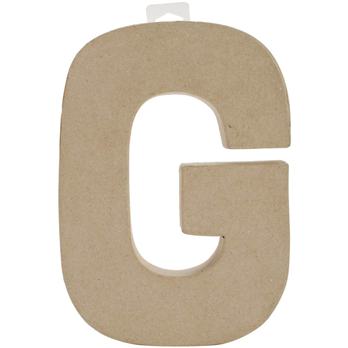 Paper Mache Letter G 8 X 5.5 Inches (12 Pack)
